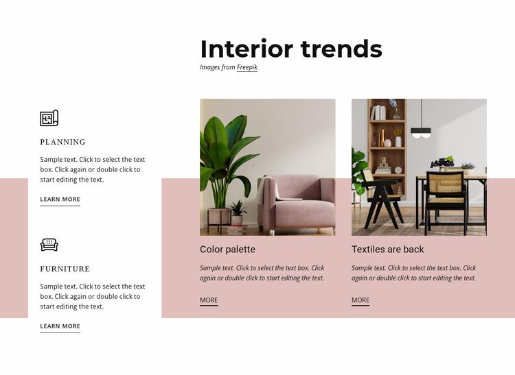 Interior trends Website Mockup