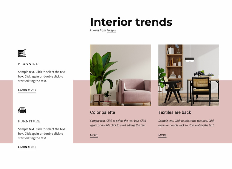 Interior trends Website Template