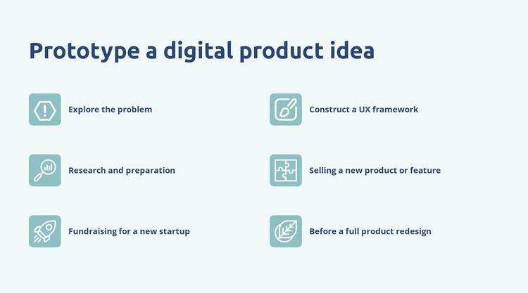 Digital product prototyping WordPress Website Builder