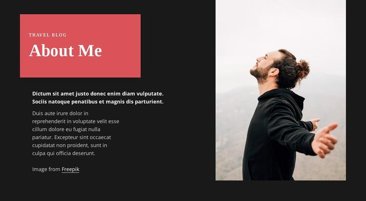 Travel blogger HTML Template