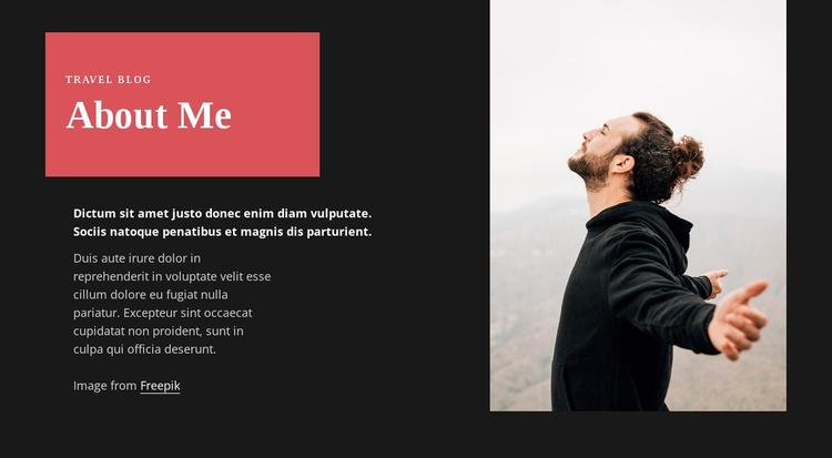 Travel blogger Website Template