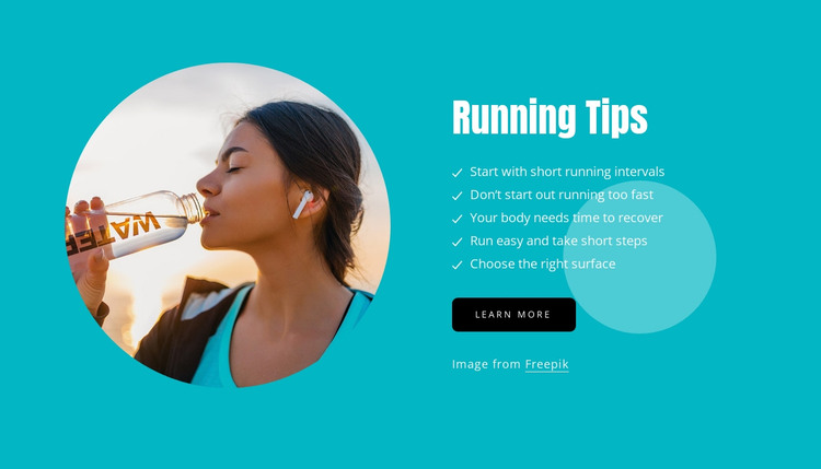 Tips for newbie runners HTML Template
