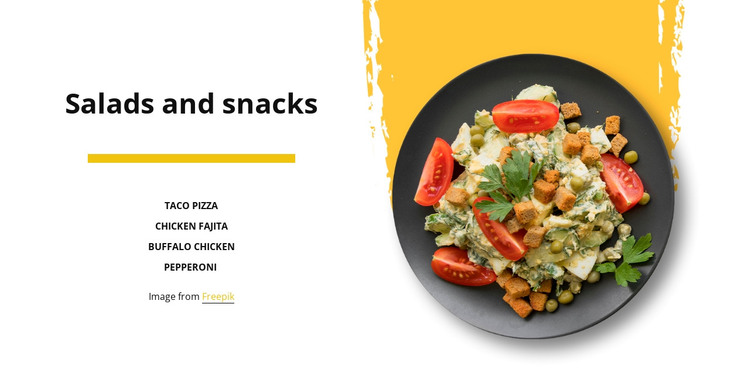 Mexican salad HTML Template