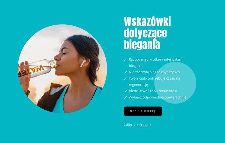 Wskazówki dla początkujących biegaczy Szablon witryny sieci Web