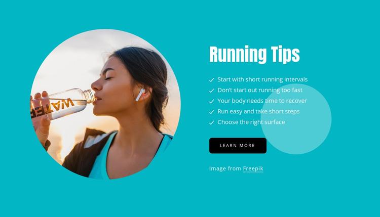 Tips for newbie runners Web Design