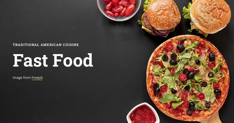 Fast food restaurant Web Page Designer
