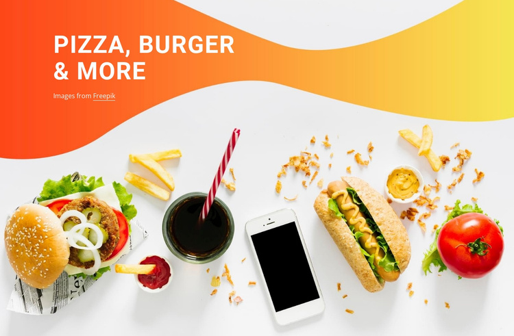 Pizza burgers and the rest Website Template