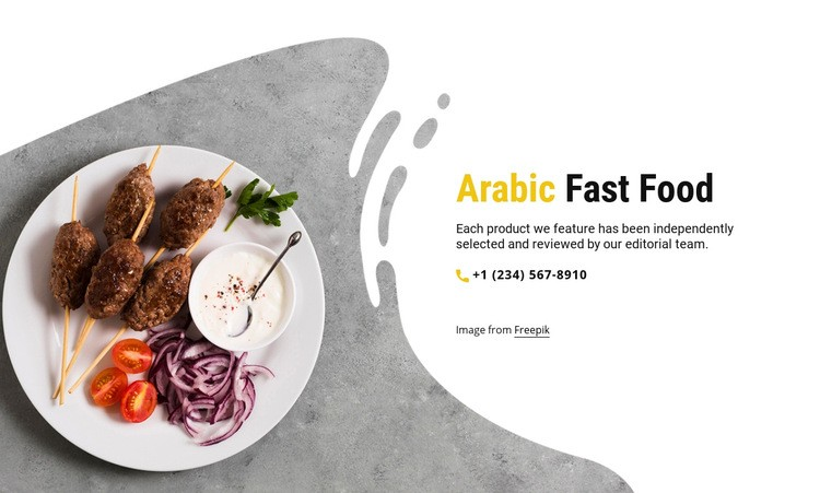 Arabic fast food Html Code Example