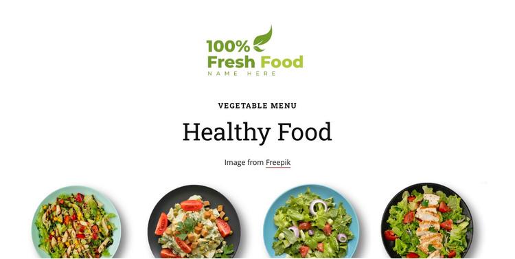 Four light salads HTML Template