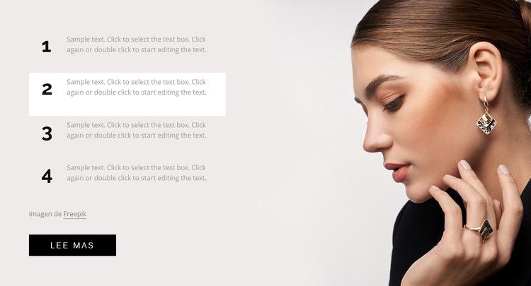 Trucos de cabello, maquillaje y uñas Plantilla de sitio web