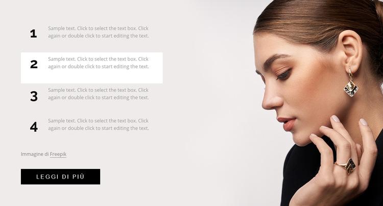 Trucco per capelli, trucco e unghie Modello di sito Web