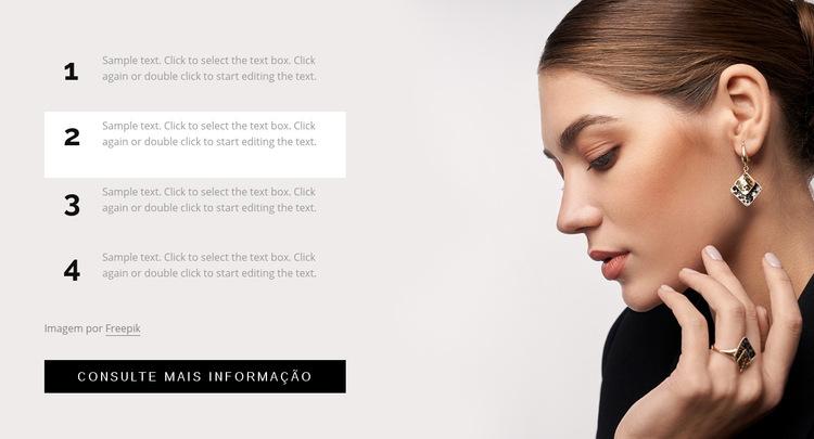 Truques de cabelo, maquiagem e unhas Modelo de site
