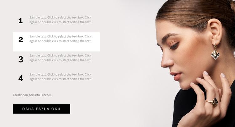 Saç, makyaj ve tırnak hileleri Web Sitesi Şablonu