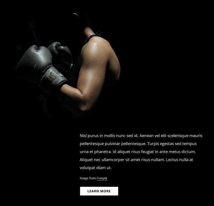 Female kickboxing Web Page Designer