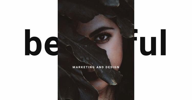 Beauty master Website Mockup