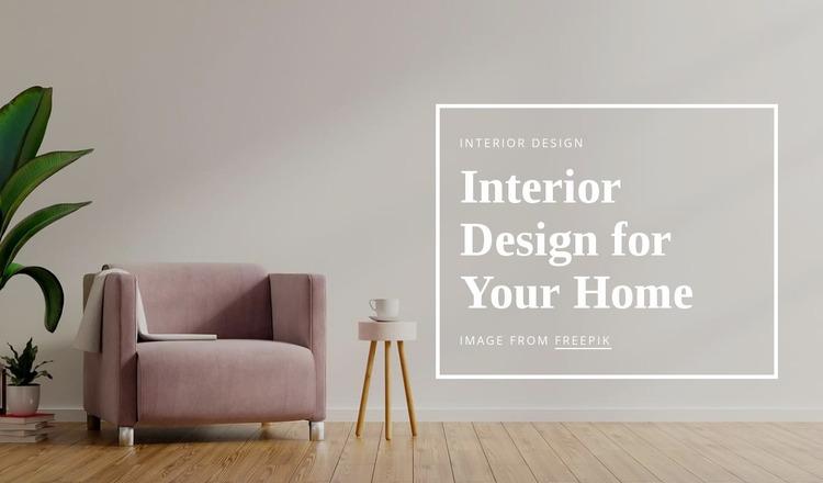 Interior design for your home Website Mockup