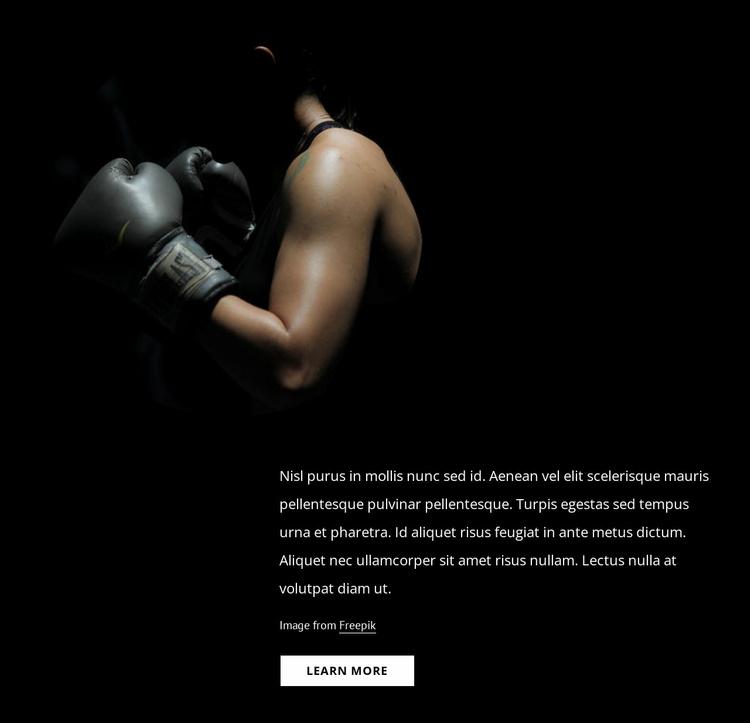 Female kickboxing Website Template