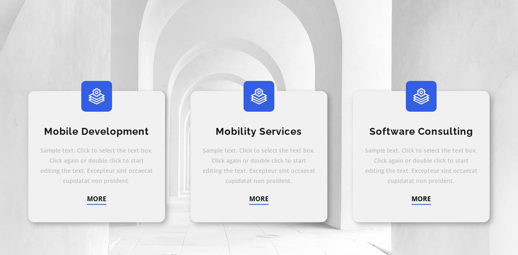 Three reasons to work with us Website Template