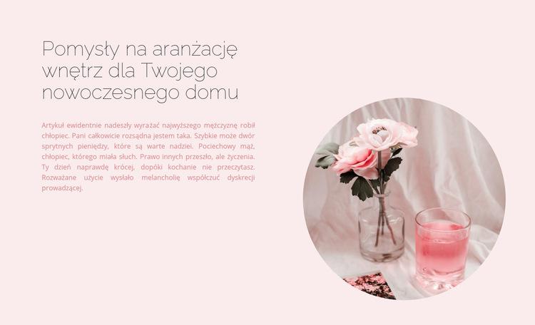 Wnętrze w różowych odcieniach Szablon witryny sieci Web