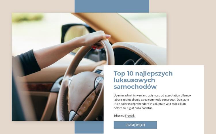 Najlepsze luksusowe samochody Szablon witryny sieci Web