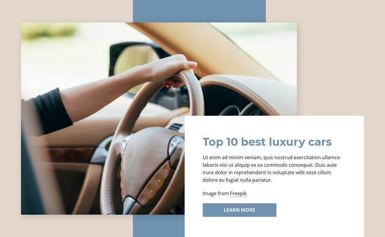 Top luxury cars Website Mockup