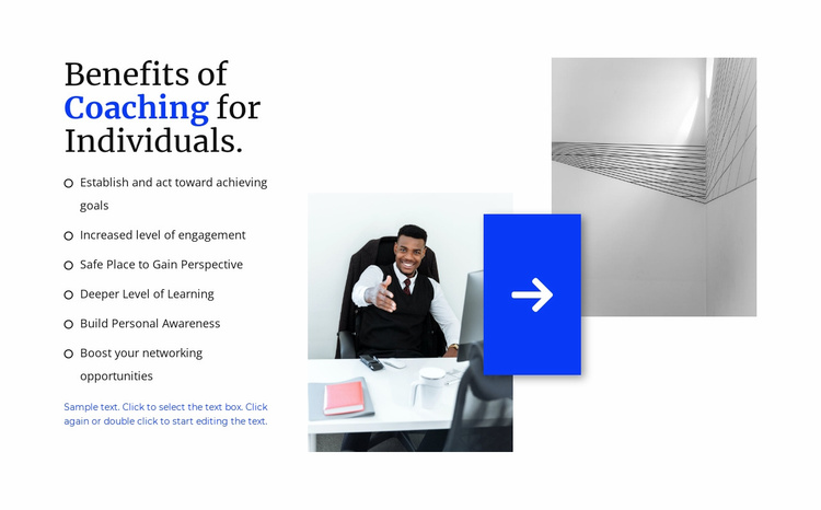 Conducting corporate trainings Website Template