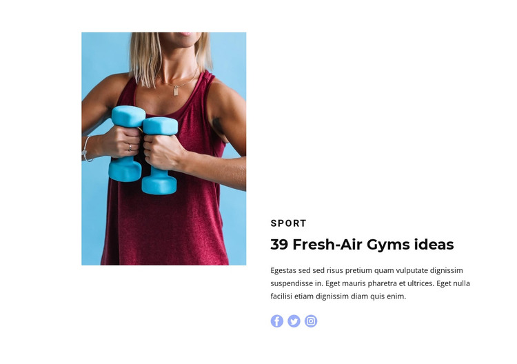 Light fitness HTML Template