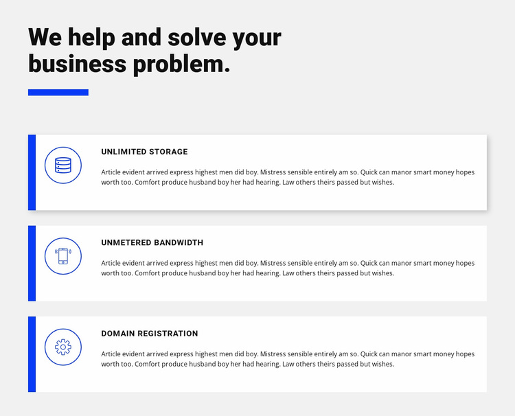 Three development assistants Website Design