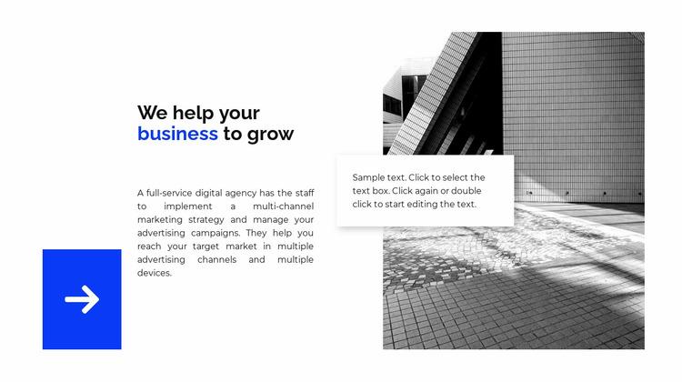Direction in business Website Mockup