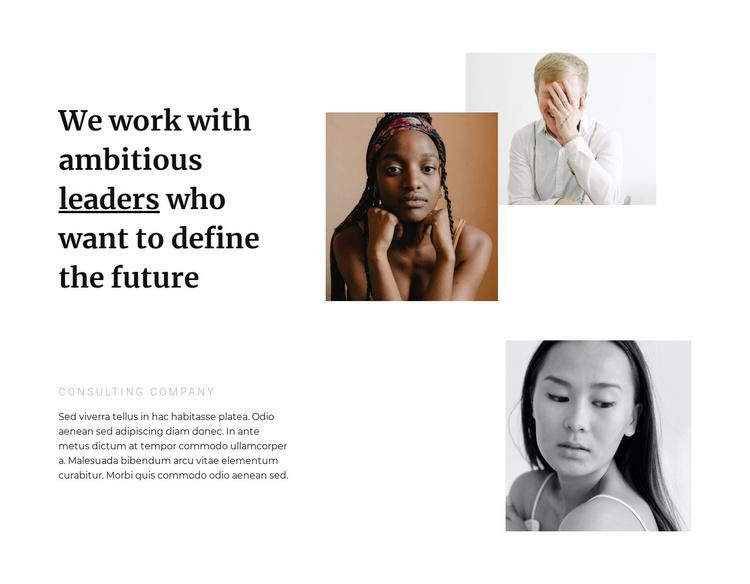 Beautiful leaders Website Template