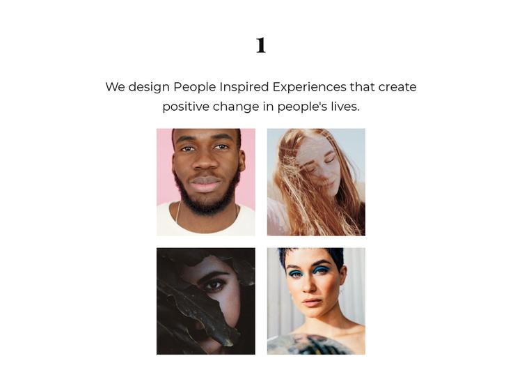 Four representatives HTML Template