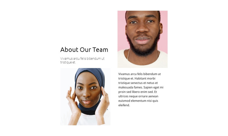 Two team representatives HTML Template