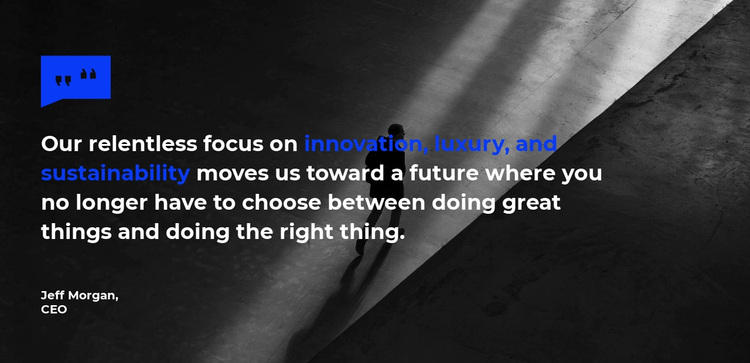 Quote on the background image Website Design