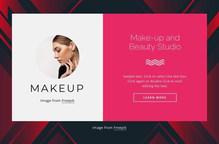 Make-up and beauty studio Web Page Designer
