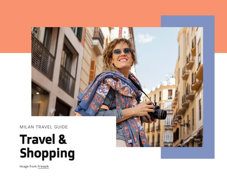 Travel and shopping Html Code Example