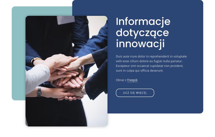 Spostrzeżenia dotyczące innowacji Szablon witryny sieci Web