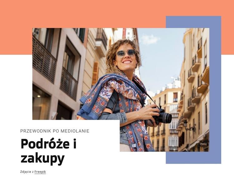 Podróże i zakupy Szablon witryny sieci Web