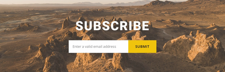 Subscribe to travel news Website Builder