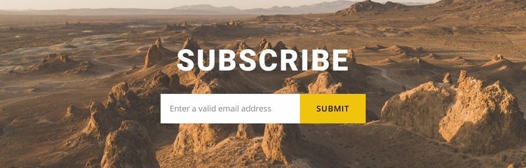 Subscribe to travel news Website Design
