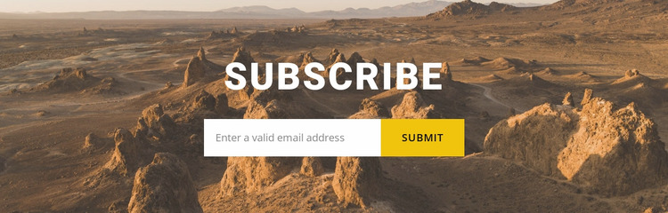 Subscribe to travel news Website Mockup