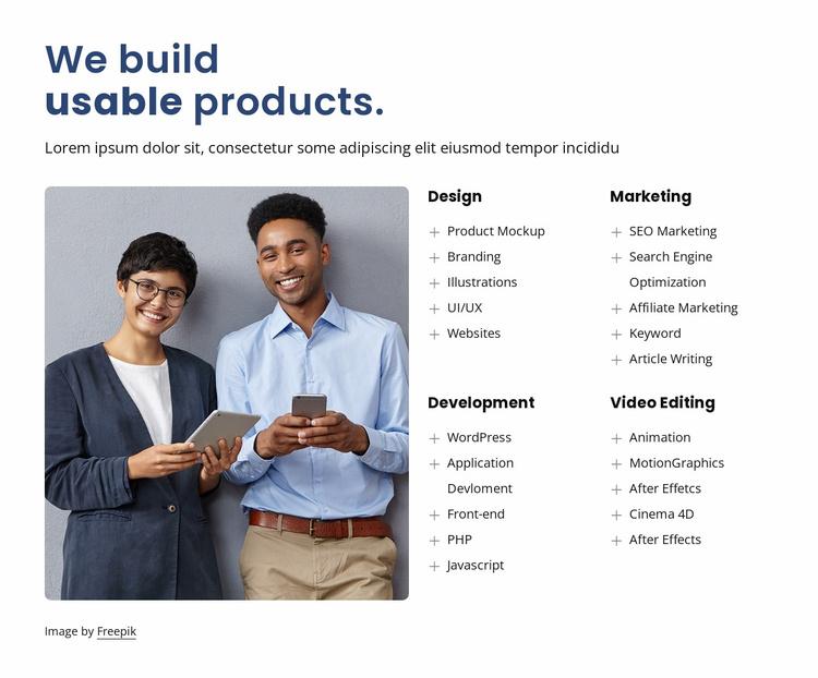 We build amazing design Website Template