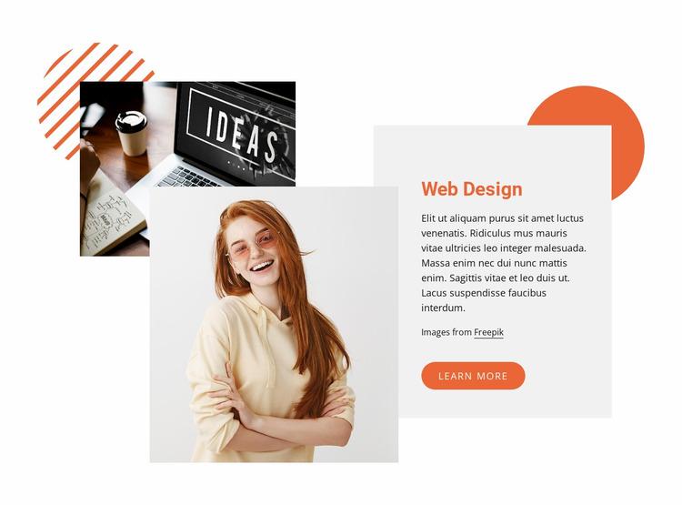 We create web sites Website Mockup