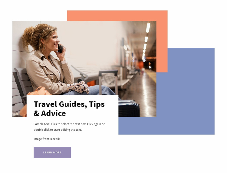 Travel guides and tips Website Template