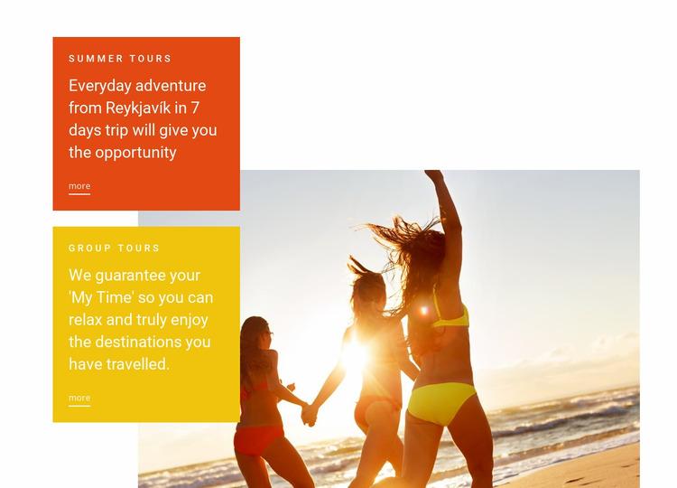 Summer beach Hotel Website Mockup