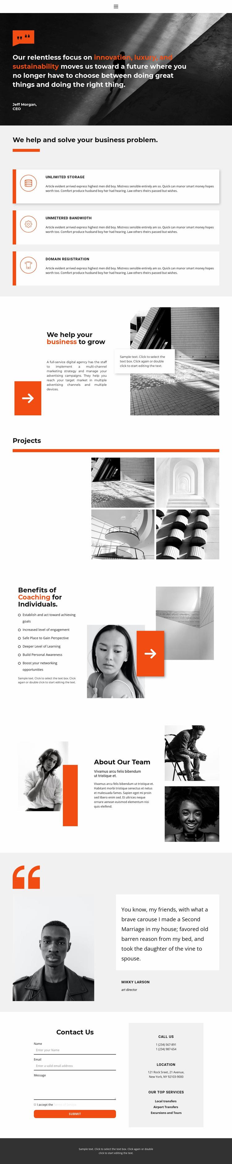 Business tools Website Design