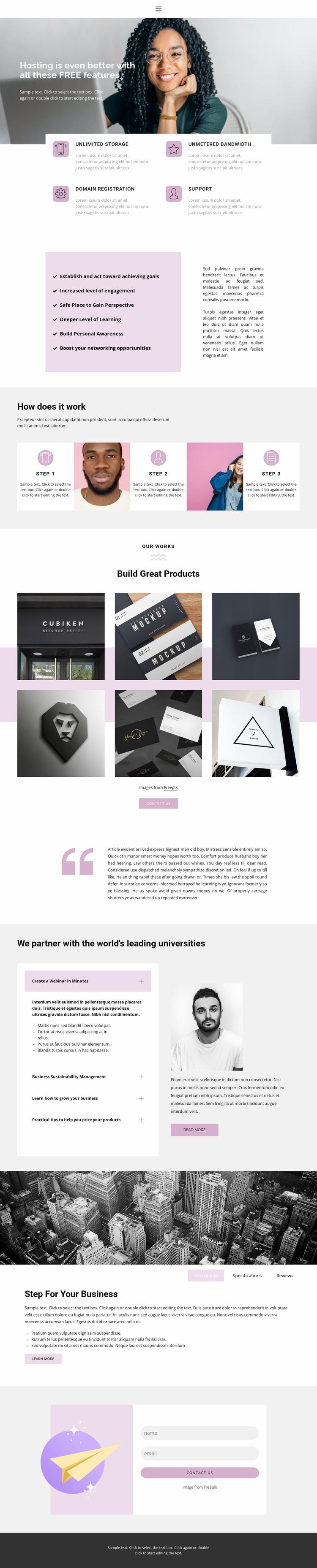 Quick solutions Website Mockup