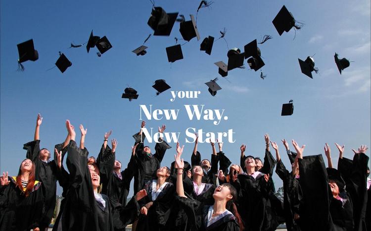 New way. New start Website Template