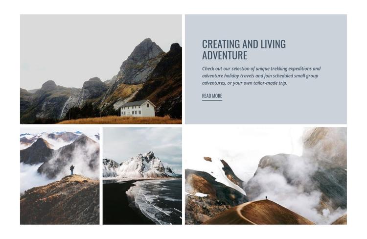 Birdwatching and hiking Homepage Design
