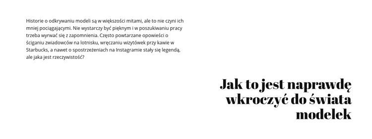 Tekst i nagłówek Szablon witryny sieci Web