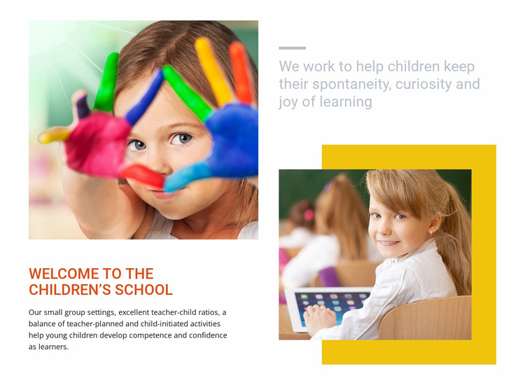 Alternative daycare canter Website Mockup